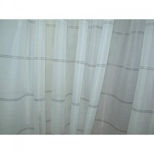 Firana Migotka biało - srebrna 300x250